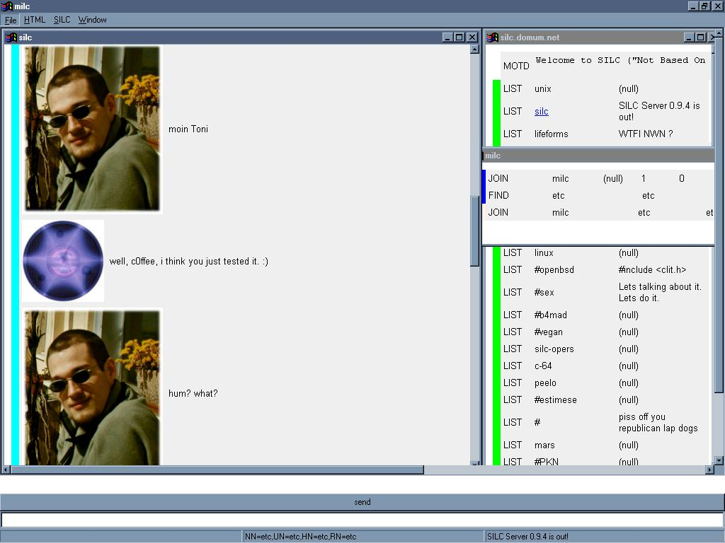 milc 0.3.4 Windows98 screenshot
