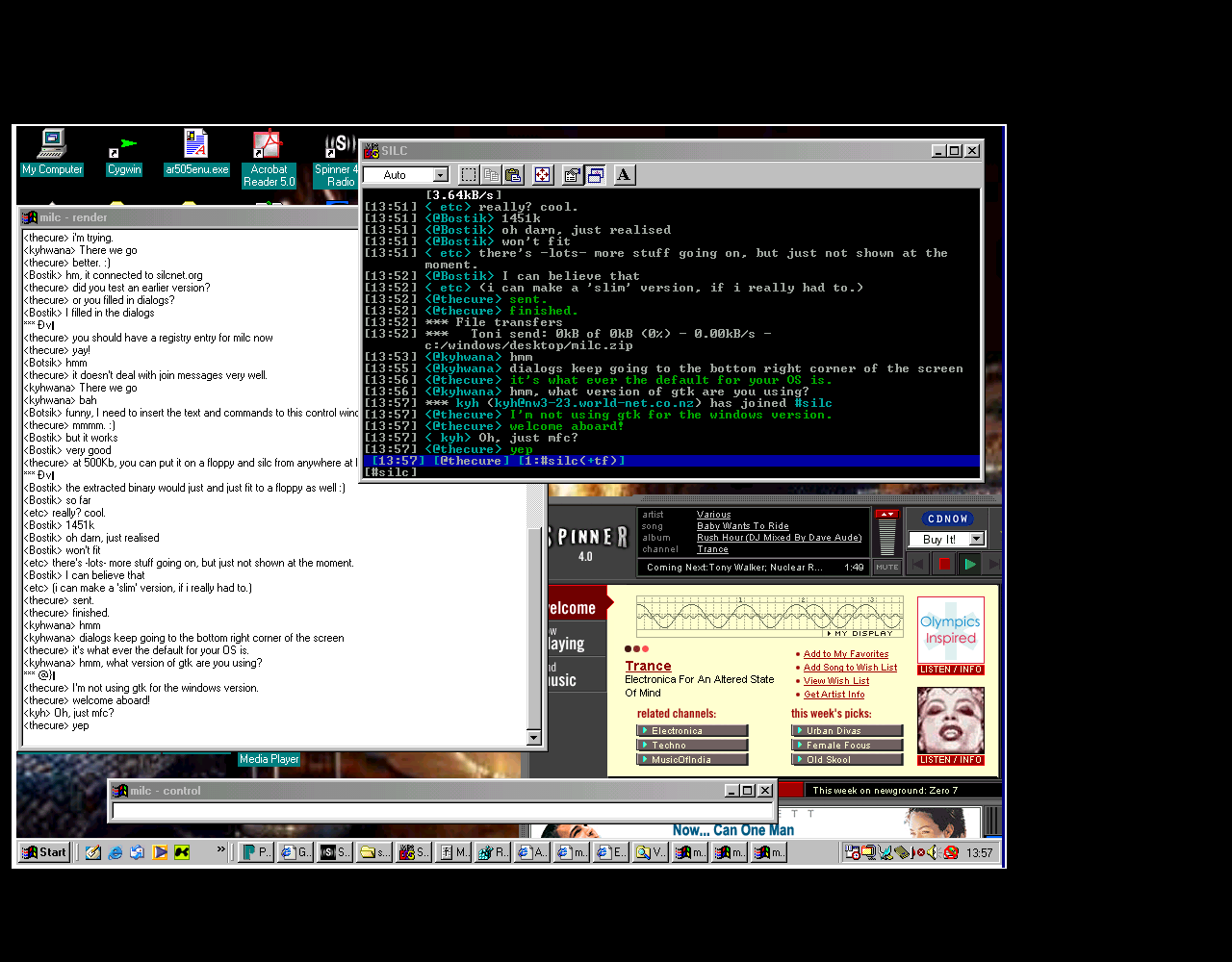 milc 0.1 Windows98 screenshot